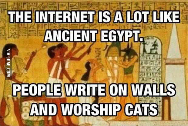 The ancient Egypt internet