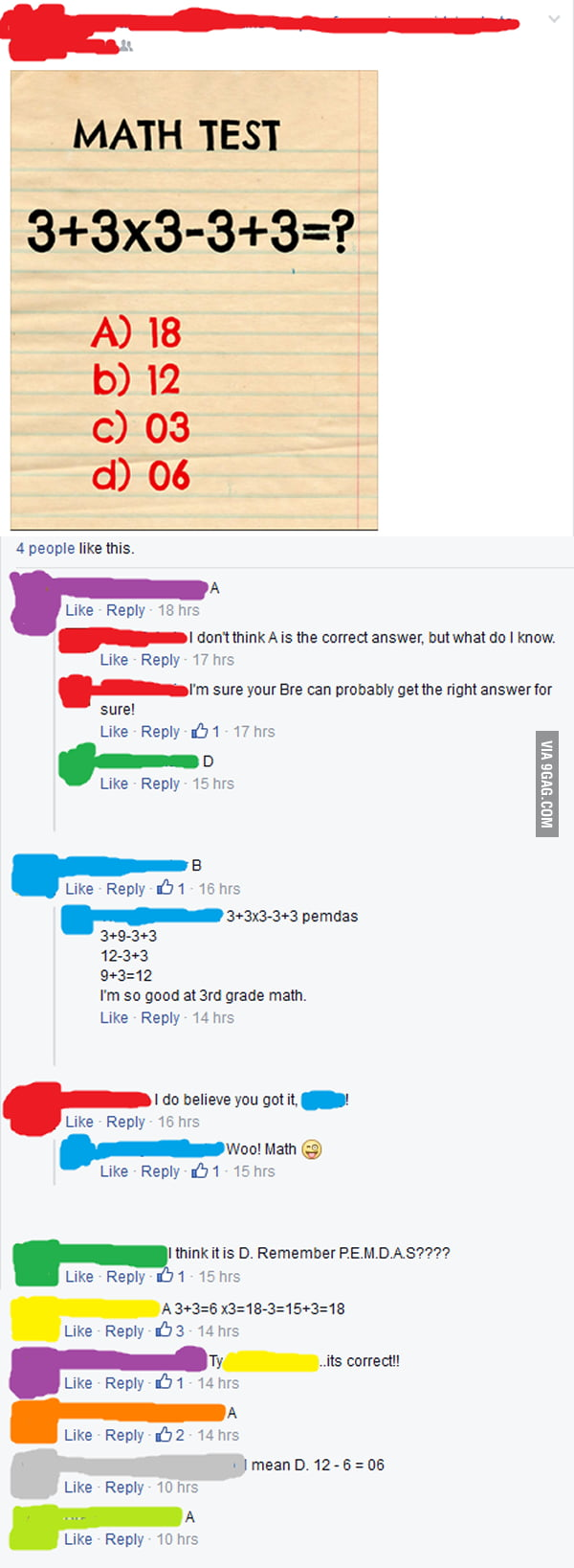 Everyone forgets how to do math.