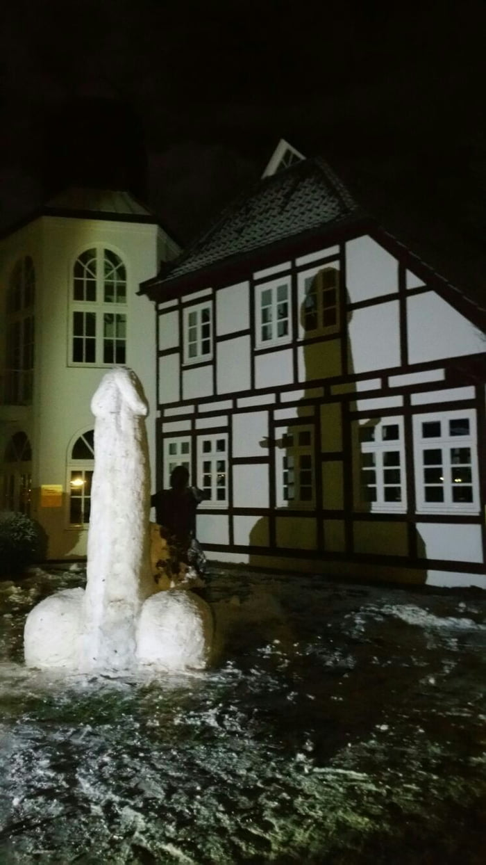 So this happend in my town in germany it's 2 meters high