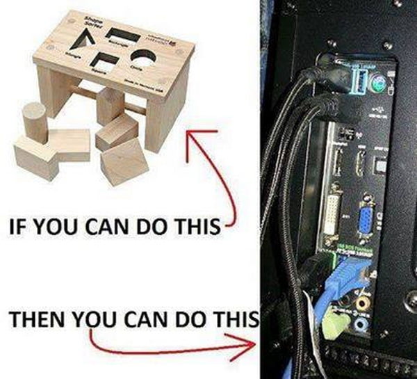 If you really don't know how to plug in cables then you don't deserve a computer...