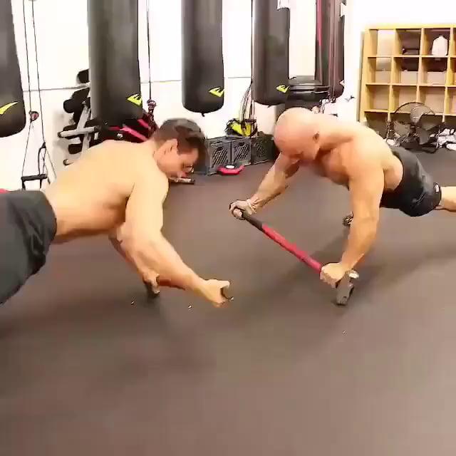 Hard mode pushups.