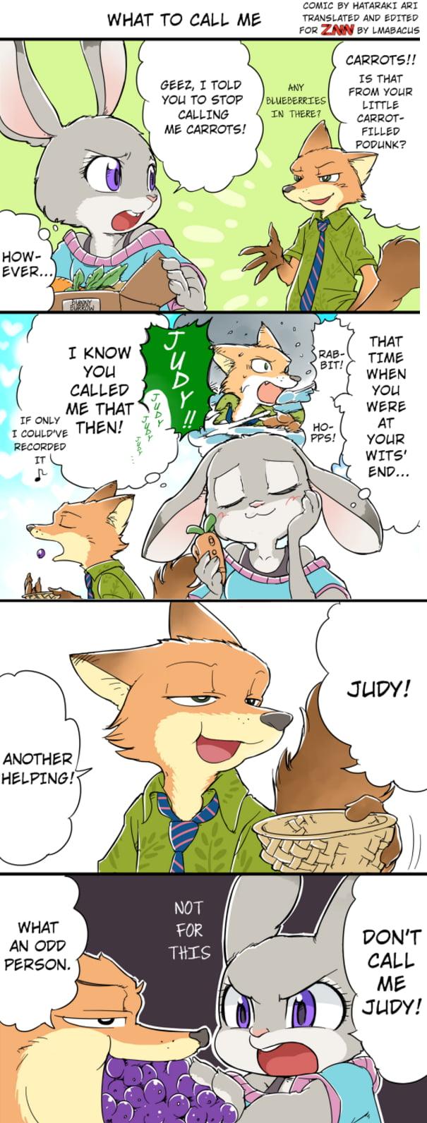 Zootopia: What to call me... (Carrots or Judy) Artist: Hataraki Ari