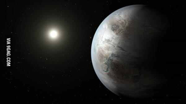 The latest artist rendition of Earth 2.0, a new planet called Kepler 452B with conditions similar to earth, just announced by NASA