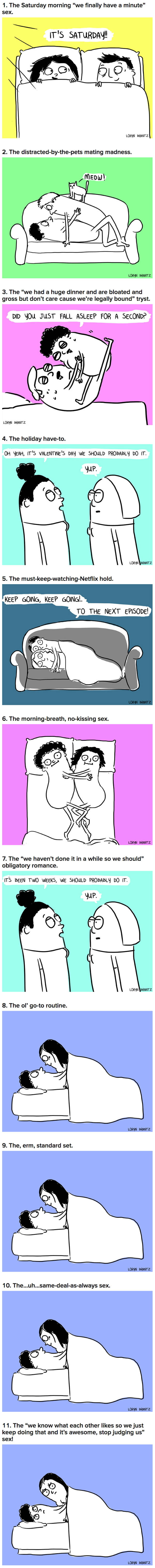 11 Types Of Sex Married People Or Couples Who Live Together Have