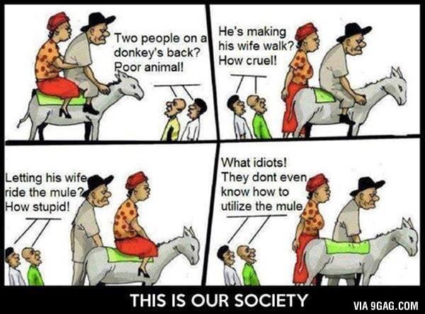 Our society, smh