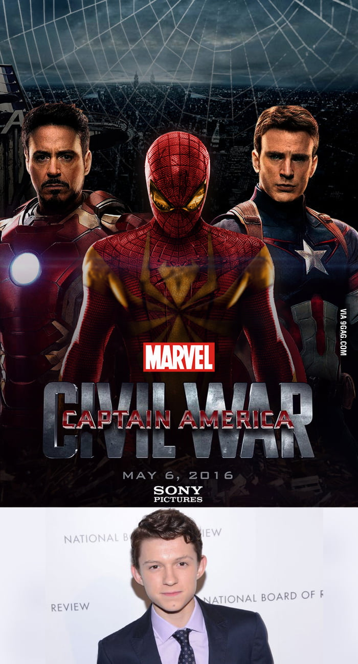 It's Confirmed... Spideys gonna be in Civil War... Tom Holland is our Peter... I don't know what to expect.