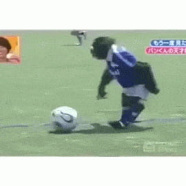 Just a monkey playing football...