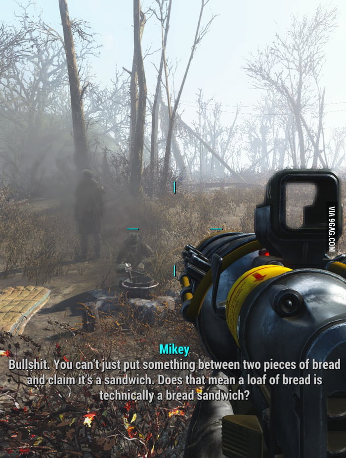 This game has some deep conversations. (Fallout 4)