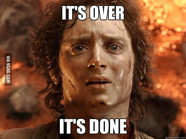 I've just finish high school today...