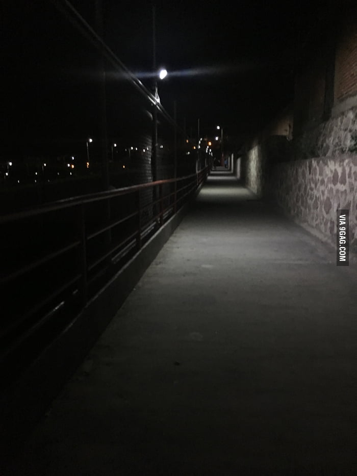 My every night walk from my university to my car, I supposed to don't be afraid, but man  I'm in Mexico