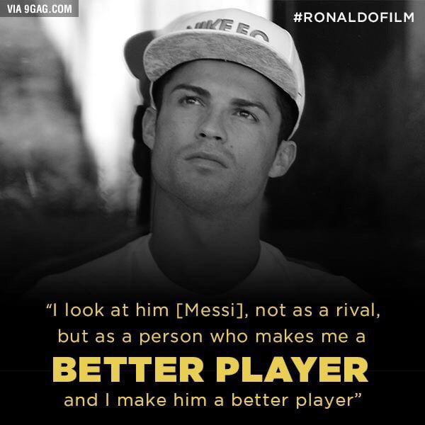 Cristiano Ronaldo on Messi from the Ronaldo Film