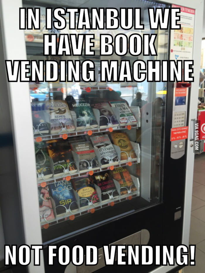 In İstanbul there are book vending machines instead of food vending machines...