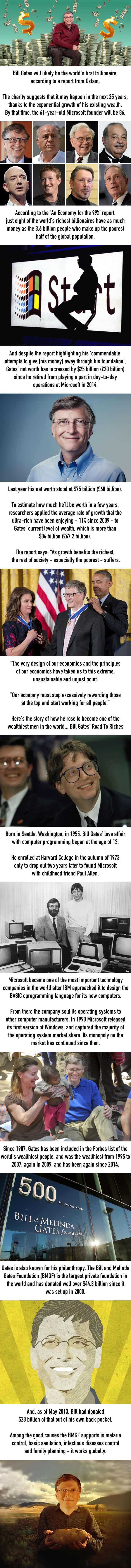 Bill Gates Is Likely To Become The World's First Trillionaire