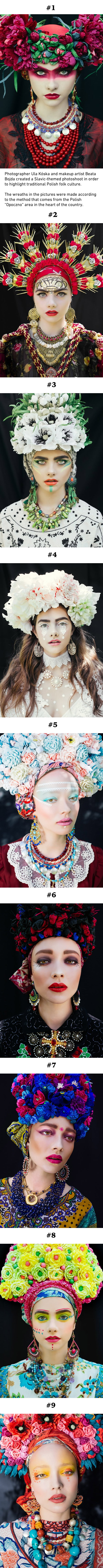 Polish Artists Recreate Stunning Photos With Slavic Wreaths (Ula Kóska & Beata Bojda)