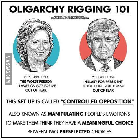 Oligarchy: a small group of people having control of a country, organization, or institution.