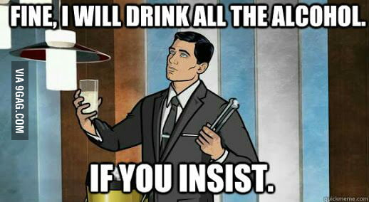 When a friend at a party says that he doesn't like beer