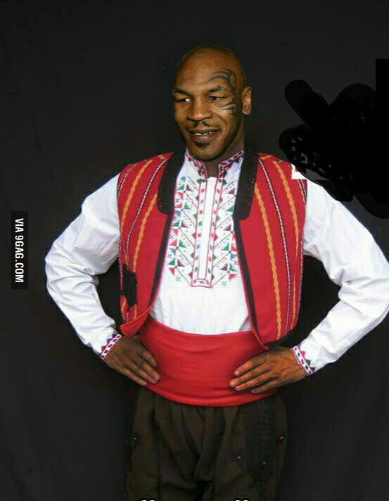 This week Mike Tyson is in Bulgaria. this is how he looks like
