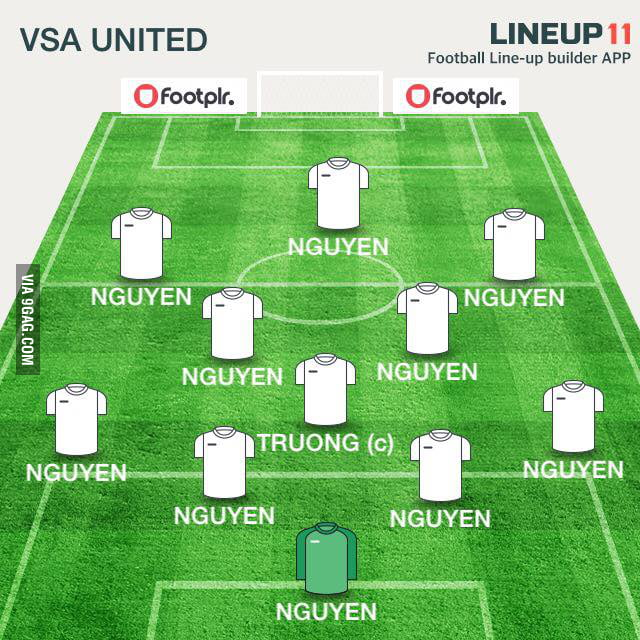 School's Vietnamese club's soccer line-up was announced