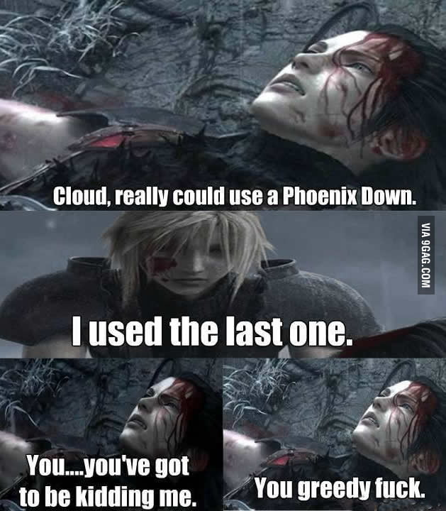 He did the same to Aerith.