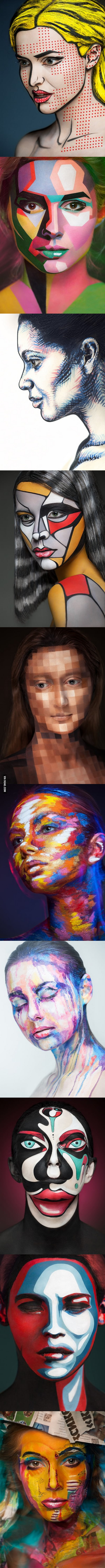 Incredible photographs of people wearing face paint