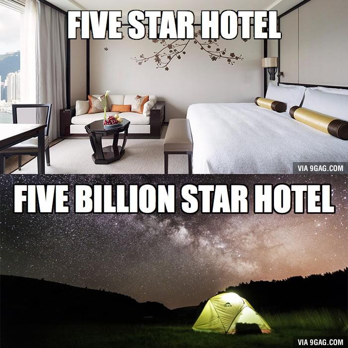 Five Star Hotel vs Five Billion Star Hotel