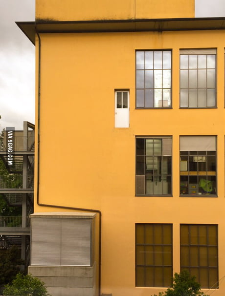 May I present you: The suicide door in the building next to my university.