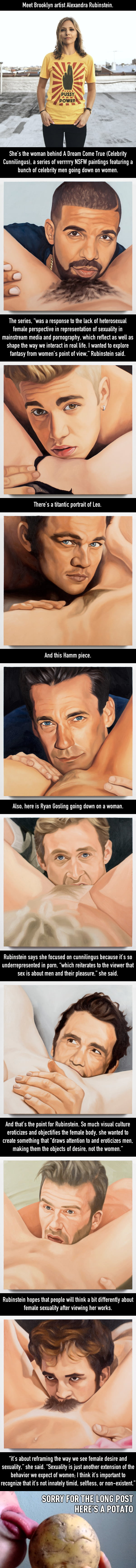 An Artist Painted A Bunch Of Famous Celeb Men Going Down On Women And Its Really Something