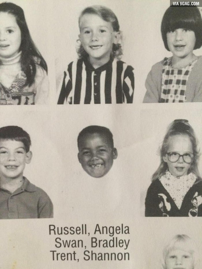 My friend's elementary picture He wore a white sweater