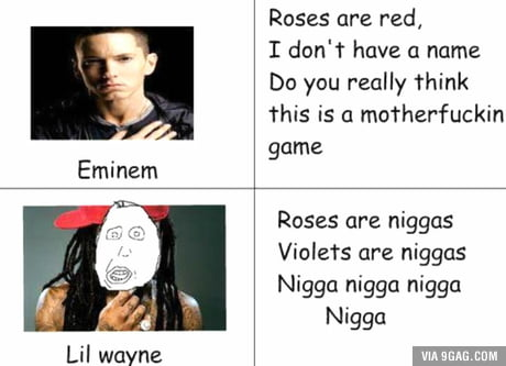 Googled Eminem vs Lil Wayne, I was not disappointed.