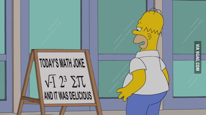 Math joke... the Simpsons did it again