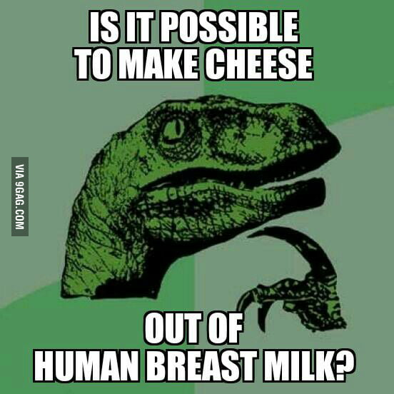 I mean, you could make it out of cow milk, sheep milk... How about human milk?
