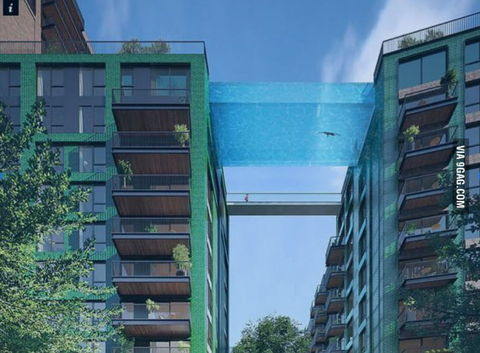 They want to connect two flat buildings by a sky pool in London