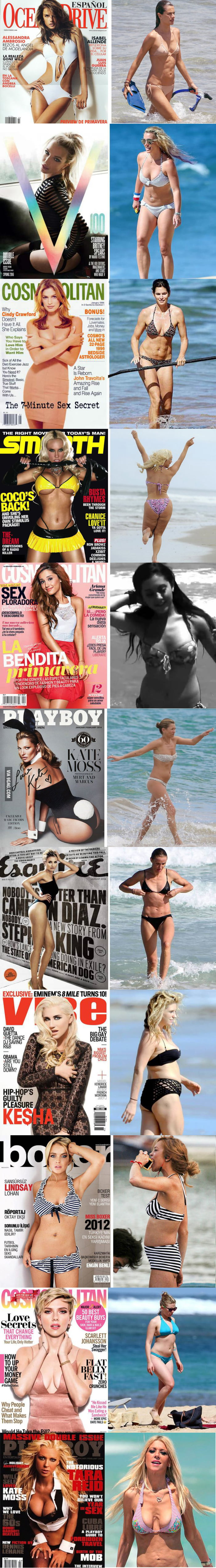 The stars on the covers of magazines and in real life
