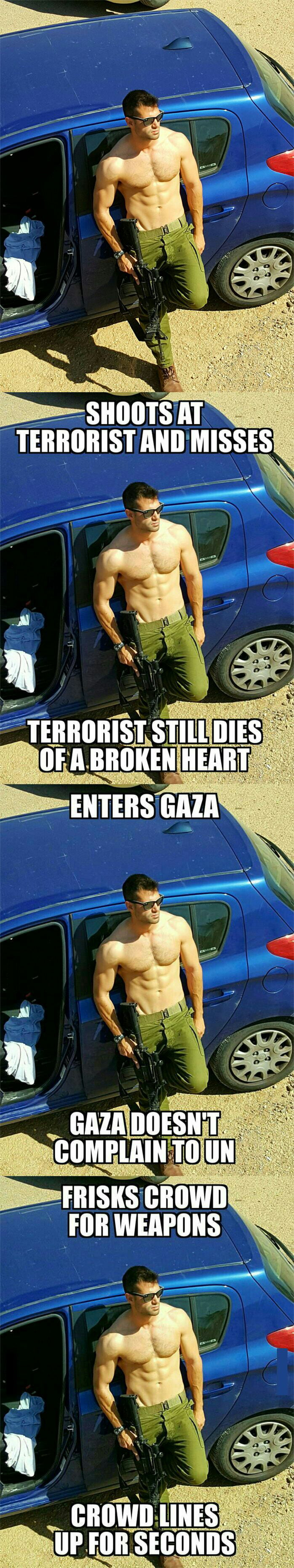Ridiculously Photogenic Israeli Soldier