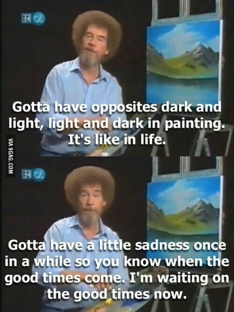 Bob Ross Shortly After His Second Wife Died Of Cancer Damn Ninjas