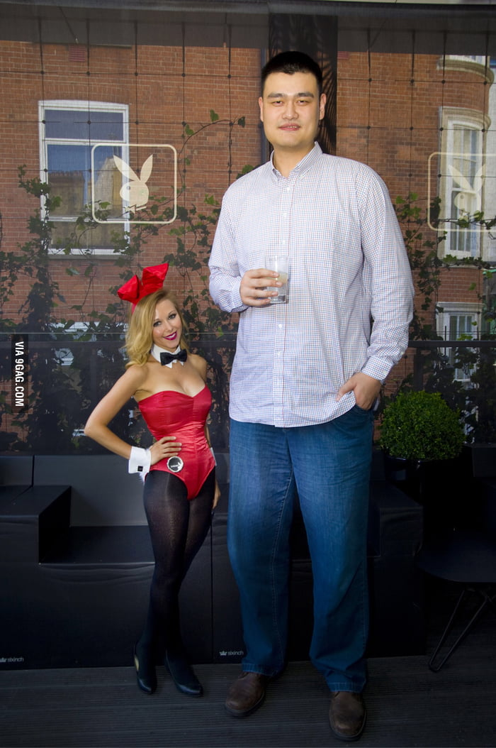 Yao Ming and a Playboy Bunny