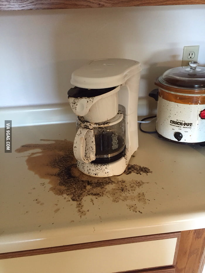 A 21-year-old guy made his first pot of coffee this morning...