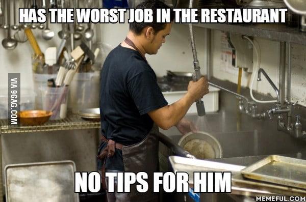 Gets paid less than a waitress
