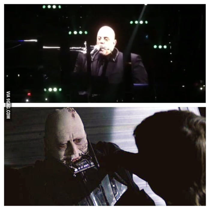 Is it just me or does Billy Joel playing a Harmonica look like a dying Darth Vader?
