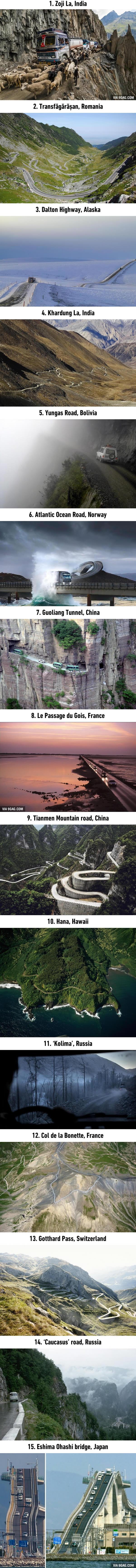 Las 15 rutas mas peligrosas del mundo
