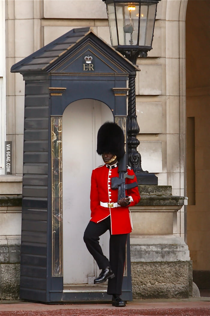 Just found a black queen's guard