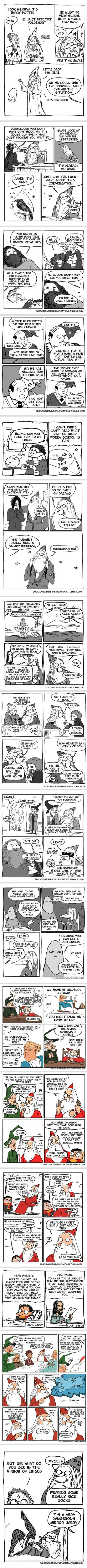 Dumbledore out ( By floccinaucinihilipilification)