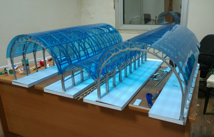 My first year project (civil engineering) of a train station. What do you guys think?