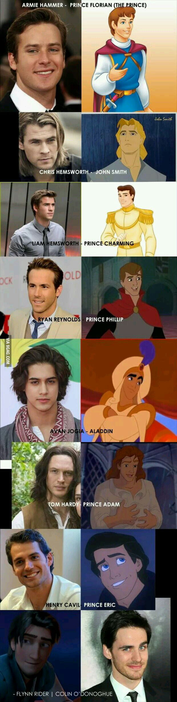The perfect actors to play as disney princes.