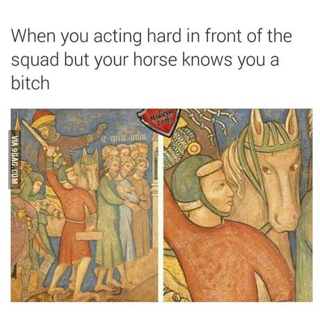 When you actin' all hard