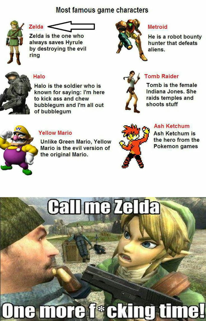 Can't find anything wrong with this one. He is Zelda so I don't get it.