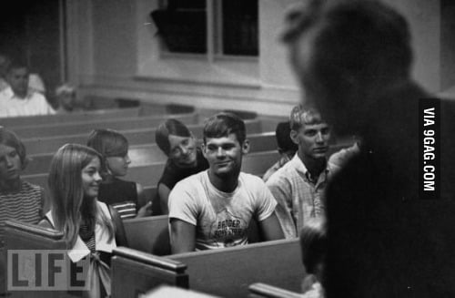 A couple during sex ed(1969)