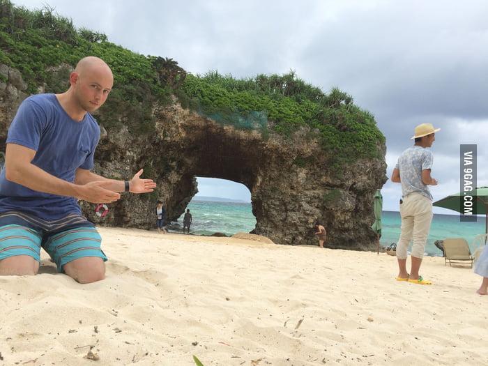My friend found the Mario Kart Koopa Troopa Beach shortcut