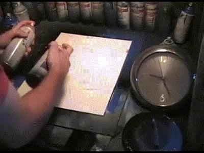 Spray paint art in 37 seconds