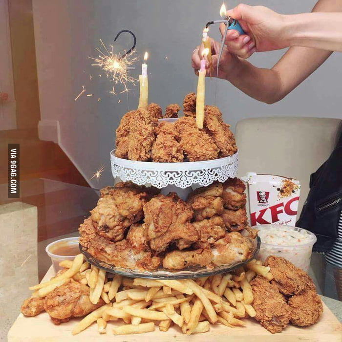 Fried Chicken Birthday Cake I Love Funny Things